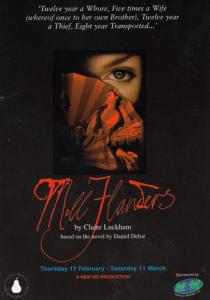 Moll Flanders Daniel Defoe Play New Vic Theatre Gala Poster Postcard Style Card