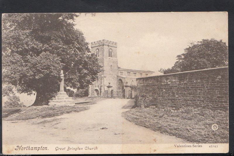 Northamptonshire Postcard - Northampton - Great Brington Church  RT1885