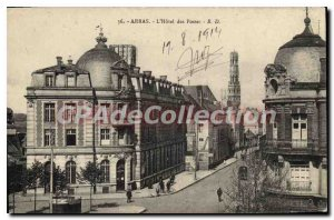 Old Postcard Arras the hotel positions