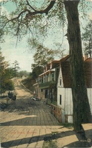 Postcard Canada Quebec cllery road cart horse village rural architecture