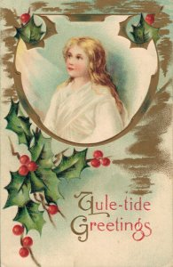 Christmas Angel Vintage Embossed Postcard 03.33