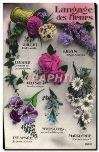 Old Postcard Fantasy Flowers of Language