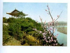 180369 Korea Pyongyang Spring on hill Mangenbon old postcard