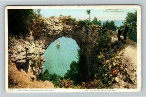 Mackinac Island MI-Michigan, Arch Rock, Vintage Postcard