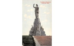 Forefathers Monument Plymouth, Massachusetts Postcard
