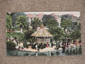 In Westlake Park on Christmas Day, Los Angeles, Cali., unused, Early 1900`s