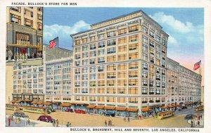 Bullock's Broadway, Hill, & Seventh St., Los Angeles, CA, Early Postcard, Unused