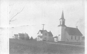 F80/ Deer Creek Minnesota RPPC Postcard c1910 Church Homes