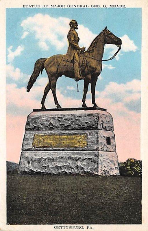 Statue of Maj. Gen. George G Meade Pennsylvania, USA Civil War Unused