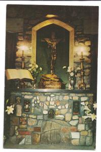 Cathedral of the Pines Chaplains Altar  Rindge NH Postcard