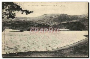 Old Postcard Lake Chambon and the Dent du Marais