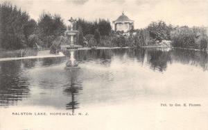 HOPEWELL NEW JERSEY~RALSTON LAKE~E MOEBIUS PHOTOTYPE POSTCARD 1900s