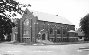 St James Minnesota~Methodist Episcopal Church~1940s Real Photo Postcard