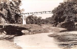 Cherokee IA Mill Creek High Bridge~RPPC c1932