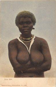 G58/ South Africa Foreign Postcard c1910 Zulu Girl Native