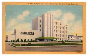 Mid-1900s Henlopen Hotel on the Boardwalk, Rehoboth Beach, DE Postcard