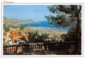 Italy Riviera dei Fiori Sanremo Harbour Boats Port Panorama