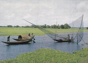 Dinghies, Fishing Nets, Paddy Fields, DHAKA, Bangladesh, 50-70's