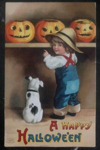 1900s West Mine MA Usa Picture Postcard PPC  Cover A Happy Halloween