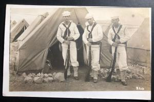 Mint USA Real Picture Postcard RPPC US Navy Marines USS Utah 1913 Panama