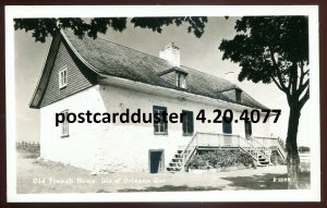 4077 - ISLE OF ORLEANS Quebec 1940s Old French Home. Real Photo Postcard