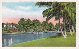 Florida Miami Beach View Along Indian Creek