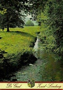 Netherlands De Geul Zuid Limburg River Coat of Arms Postcard