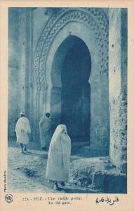 Morocco Fez An old gate 1920-30s