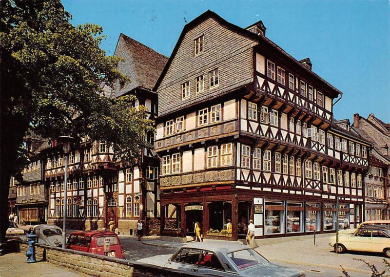 Goslar Harz Marktstrasse Commerce Auto Vintage Cars