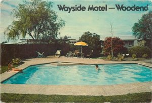 New Zealand Postcard Christchurch Wayside motel swimming pool image