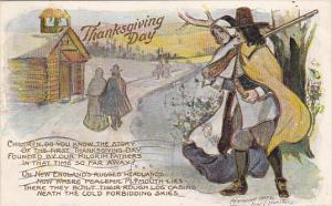Fred Lounsbury Thanksgiving Day With Pilgrims 1907
