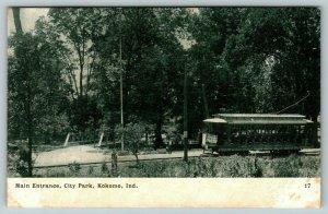 Kokomo Indiana~City Park Entrance~Electric Interurban Trolley~Yager Reunion~1908