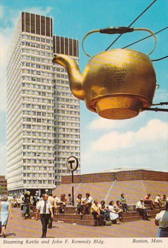 Massacahusetts Boston Steaming Kettle and John F Kennedy Building