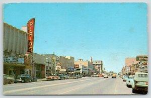 Roswell New Mexico~Main Street~Plains Theatre~My Man Godfrey~Kress~1950s Cars
