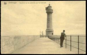 belgium, ZEEBRUGGE, Pier, Lighthouse (1915) Feldpost