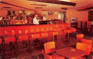 Phoenix Arizona~Copper Queen Lounge~Bartenders~Jukebox~1950s Postcard