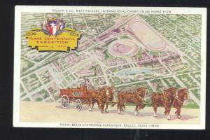 TEXAS CENTENNIAL EXPOSITION DALLAS TEXAS 1936 VINTAGE ADVERTISING POSTCARD