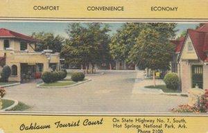 HOT SPRINGS NATIONAL PARK, Arkansas, 1930-40s; Oaklawn Tourist Court