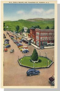 Murphy, North Carolina/NC Postcard, Public Square,Near Mint!