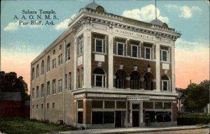 Pine Bluff AR Sahara Temple AAONMS c1910 Postcard
