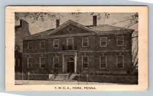 York PA, YWCA, Vintage Pennsylvania c1959 Postcard