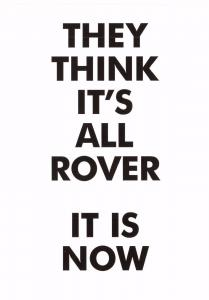 Postcard Slogan  They Think it's all Rover - It is now  NEW #MU1017