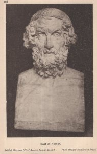 Bust Of Homer British Museum Antique Roman Statue Postcard