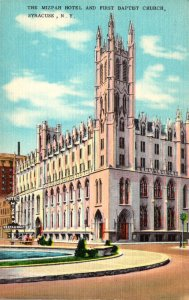 New York Syracuse The Mizpah Hotel and First Baptist Church 1960