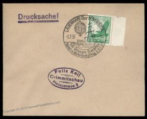 3rd Reich Germany 1937 LAUENHAIN Marine SA Meeting Cancel Cover 88354