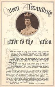 Queen Alexandra of Denmark The Princess of Wales Letter to the Nation