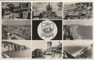 RP: ISLE of WIGHT , UK , 30-40s ; 8-view postcard