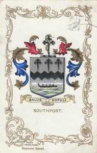 SOUTHPORT, England, PU-1905; Coat of Arms, Salus Populi