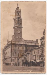Essex; Colchester, Town Hall PPC, c 1910's Unposted By Valentines, Note Cart