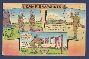 Camp Snapshots used c1942 'free' mail